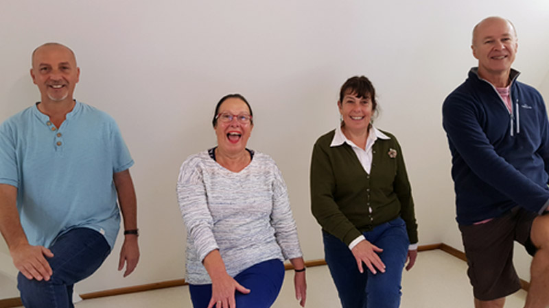 Participants enjoying the Brain Gym program